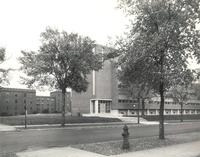 Science Hall, northwest corner, facing southeast, circa 1948.