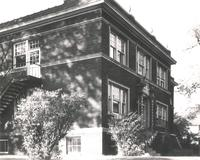 Sivertsen Hall, northeast corner, facing southwest, circa 1940