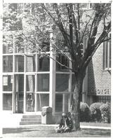 Sverdrup Hall, south entrance, facing northwest, circa 1970.