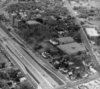 Aerial photograph of Augsburg College, circa 1975