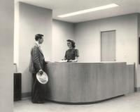 Science Hall, administrative suite, circa 1948.
