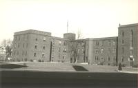 Sverdrup Oftedal Memorial Hall, south facade of north wing and west facade of east wing, facing northeast, circa 1940.