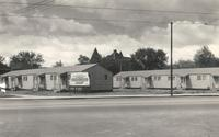 Married Veterans Housing, east facade, facing southwest, circa 1940.