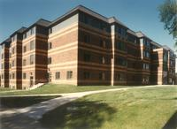 Anderson Hall, northeast corner, facing southwest, 1990s.