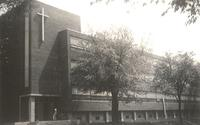 Science Hall, northwest corner, facing southeast, 1940s.