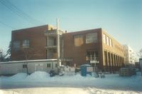Lindell Library, construction, facing east, 1996.