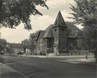Music Building, southwest corner, facing northeast, circa 1935.