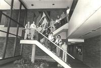 Charles S. Anderson Music Hall, south staircase, facing north, circa 1979.