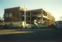 Lindell Library, construction, facing northeast, 1996.