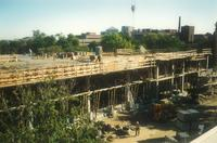 Lindell Library, construction of third floor, facing northeast, 1996.