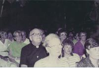 Picture of crowd attending the inaguration of the Augsburg center in Managua, Nicaragua, 1984