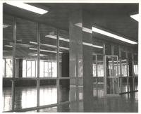 Sverdrup Hall, empty interior, facing northeast, 1955.