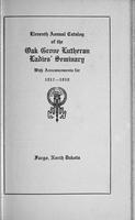Oak Grove Ladies' Seminary Catalog, 1917-1918