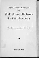 Oak Grove Ladies' Seminary Catalog, 1909-1910