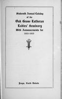 Oak Grove Ladies' Seminary Catalog, 1922-1923