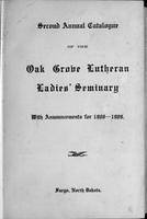 Oak Grove Ladies' Seminary Catalog, 1908-1909