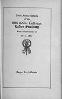 Oak Grove Ladies' Seminary Catalog, 1916-1917