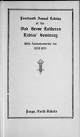 Oak Grove Ladies' Seminary Catalog, 1920-1921