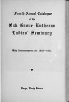 Oak Grove Ladies' Seminary Catalog, 1910-1911