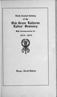 Oak Grove Ladies' Seminary Catalog, 1915-1916
