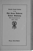 Oak Grove Ladies' Seminary Catalog, 1913-1914