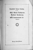 Oak Grove Ladies' Seminary Catalog, 1926-1927