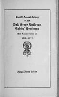 Oak Grove Ladies' Seminary Catalog, 1918-1919