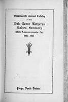 Oak Grove Ladies' Seminary Catalog, 1923-1924