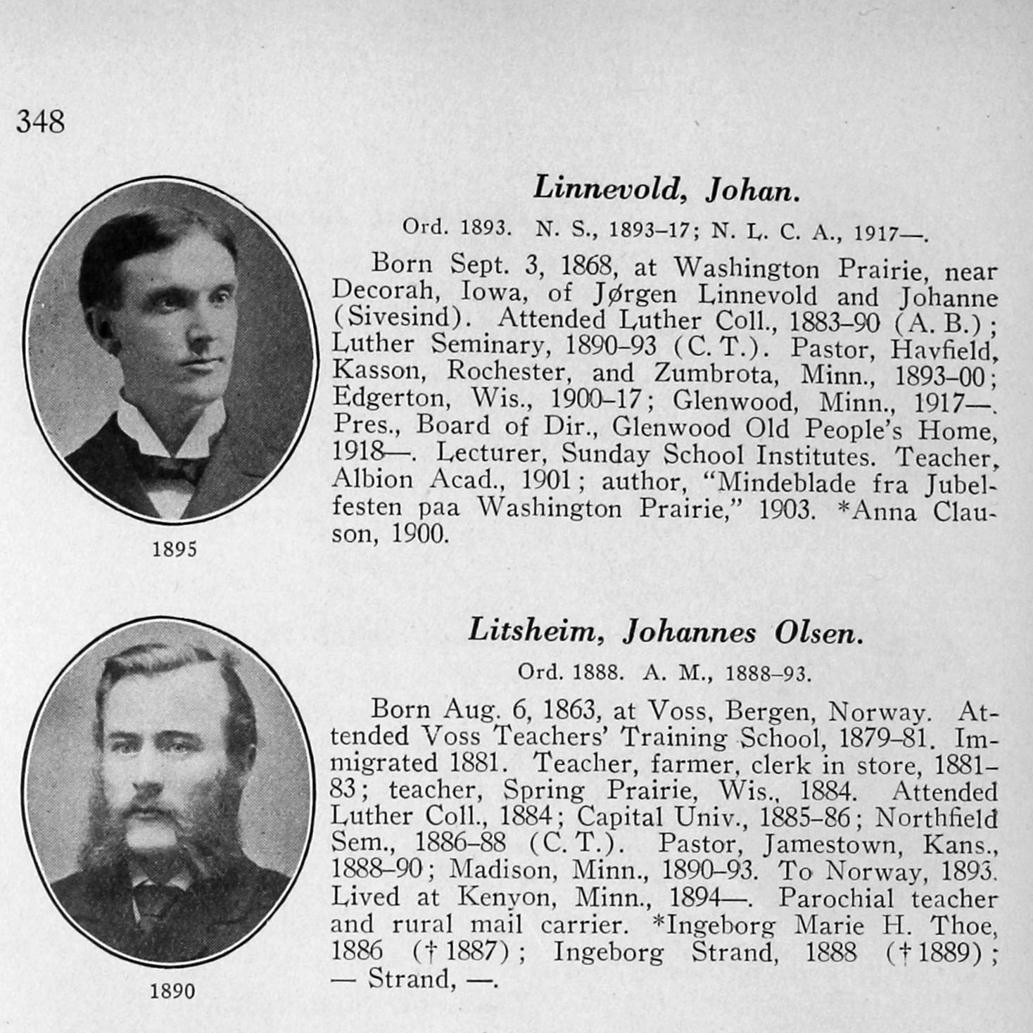 Who's Who Among Pastors in all the Norwegian Lutheran Synods of America, 1843-1927